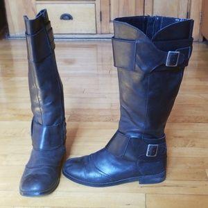 Seychelles Black Leather Riding Boots sz 8